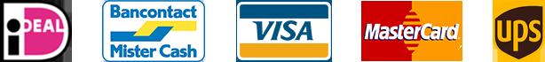 Bancontact, Visa, Mastercard, Meastro, ogone, UPS